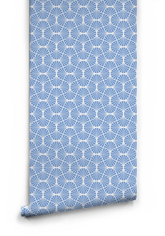 Empire Weave Wallpaper in Water Raceway Light Blue by Milton & King
