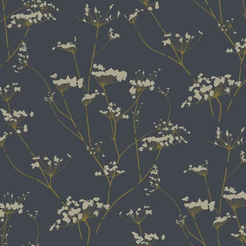 Enchanted Wallpaper in Blue from the Botanical Dreams Collection by Candice Olson for York Wallcoverings