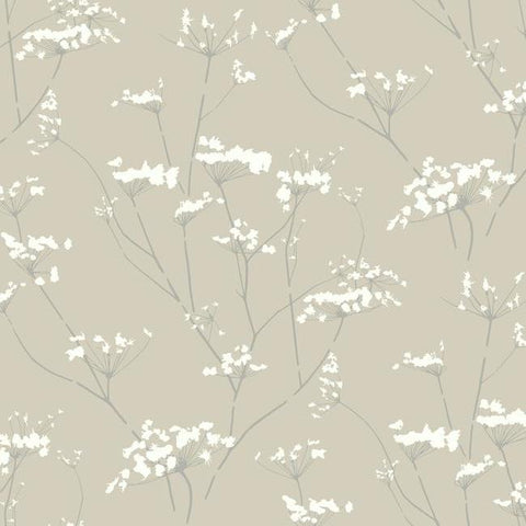 Enchanted Wallpaper in Tan from the Botanical Dreams Collection by Candice Olson for York Wallcoverings