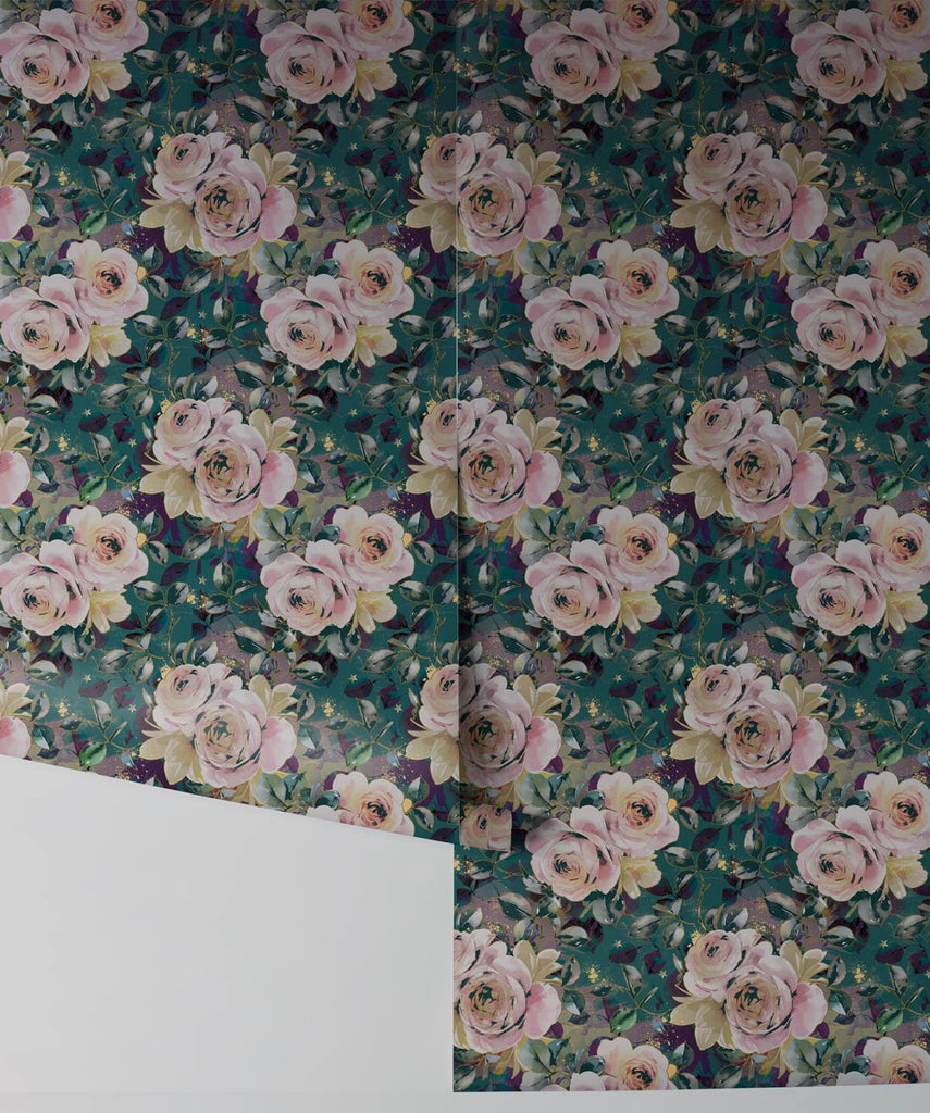 English Roses Wallpaper from the Wallpaper Republic Collection by Milton & King