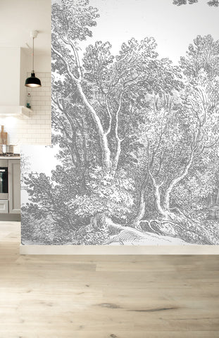 Engraved Landscapes 321 Wall Mural by KEK Amsterdam