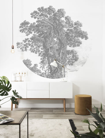 Engraved Tree 013 Wallpaper Circle by KEK Amsterdam