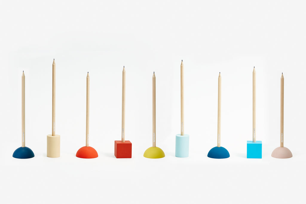 Group Eraser Pencil Stands design by Areaware