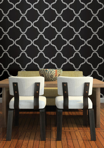Estate Moroccan Grate Wallpaper in Pearl by Brewster Home Fashions
