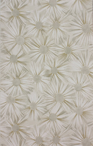 Estella Wallpaper in Ivory and Gold by Nina Campbell for Osborne & Little