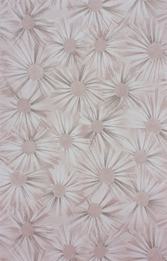 Estella Wallpaper in Shell Pink and Silver by Nina Campbell for Osborne & Little