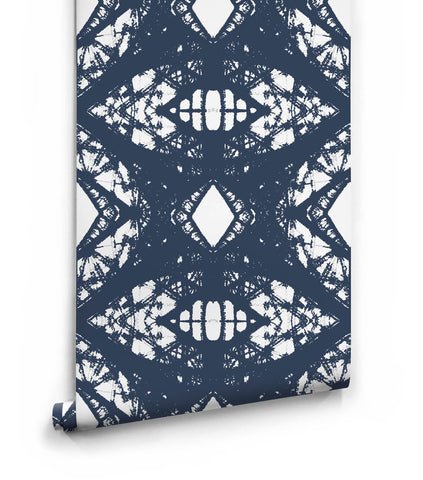 Esther Wallpaper in Navy from the Ella & Sofia Collection by Milton & King