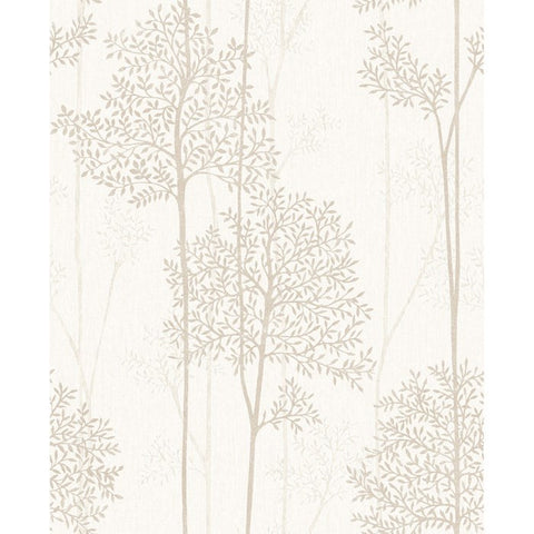 Eternal Wallpaper in Cream and Gold from the Innocence Collection by Graham & Brown