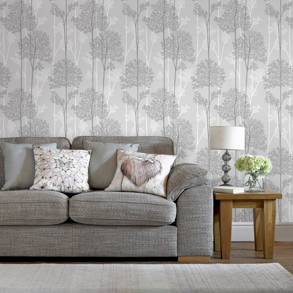 Eternal Wallpaper in Grey from the Innocence Collection by Graham & Brown