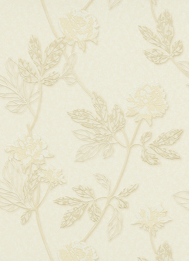 Ethan Floral Wallpaper in Cream design by BD Wall