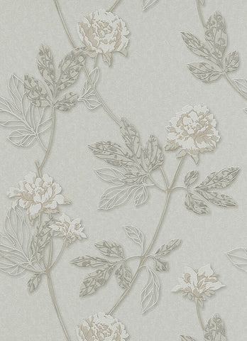 Ethan Floral Wallpaper in Taupe design by BD Wall