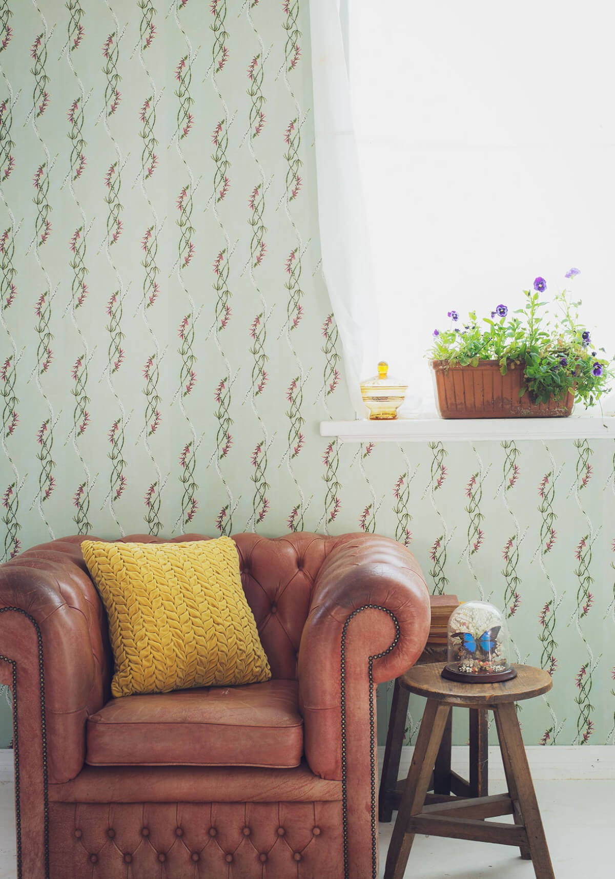 Euphemia 4 Wallpaper From The Lazybones Collection By