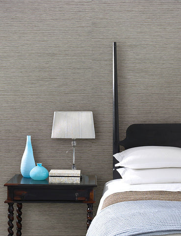 Eva Grey Paper Weave Wallpaper from the Jade Collection by Brewster Home Fashions