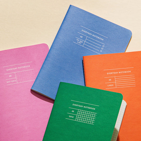 Everyday Notebook in Various Colors
