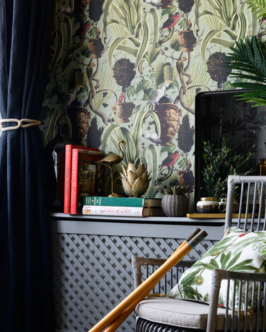 Exotic Menagerie Wallpaper in Light from the Wallpaper Compendium Collection by Mind the Gap