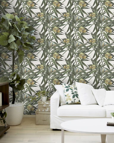 Exotic Fruit II Wallpaper in Green and Grey from the Tropical Vibes Collection by Mind the Gap