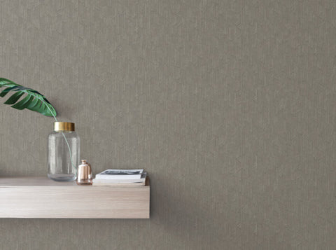 Exponential Wallpaper in Grey from the Moderne Collection by Stacy Garcia for York Wallcoverings