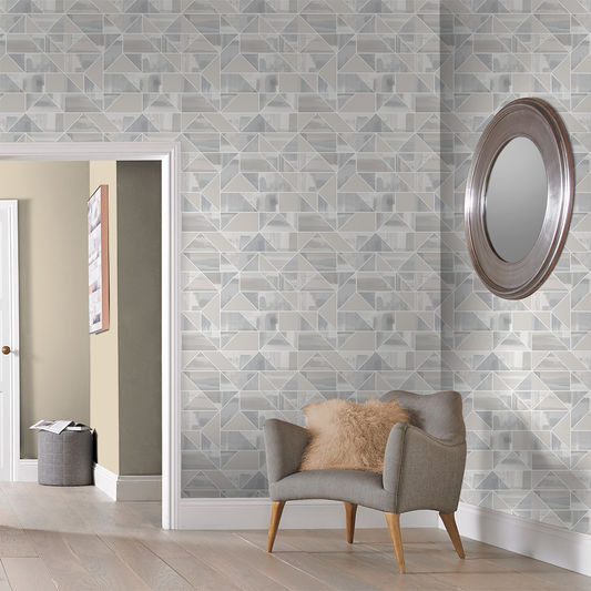 Expression Geo Wallpaper in Natural from the Exclusives Collection by Graham & Brown