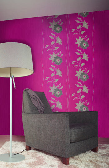 Eyecatcher Floral Wallpaper in Red design by BD Wall
