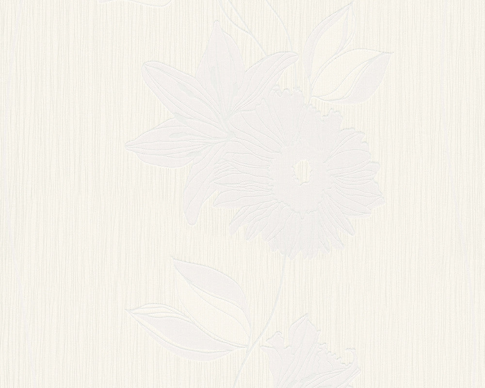 Sample Eyecatcher Floral Wallpaper in Ivory design by BD Wall