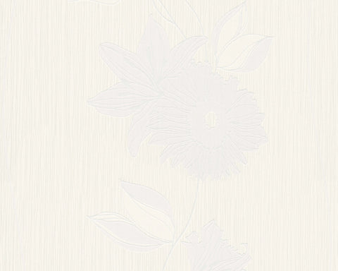 Eyecatcher Floral Wallpaper in Ivory design by BD Wall