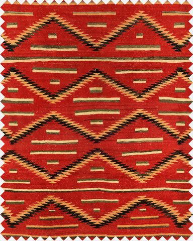 Eyedazzler Navajo Linen Fabric in Red by Mind the Gap
