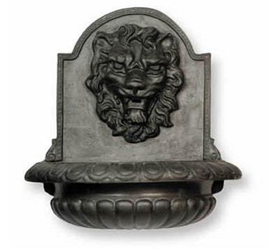 Lion Fountain in Faux Lead Finish design by Capital Garden Products
