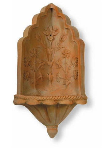Taj Corner Fountain in Terracotta Finish design by Capital Garden Products