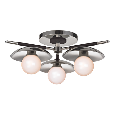 Julien 3 Light Semi Flush by Hudson Valley Lighting