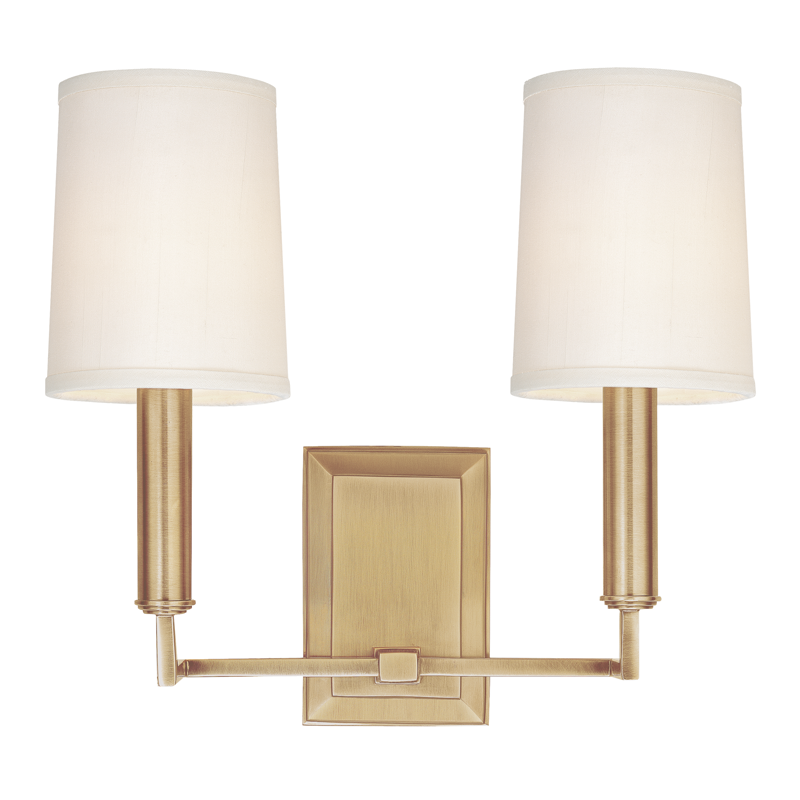 Clinton 2 Light Wall Sconce by Hudson Valley Lighting