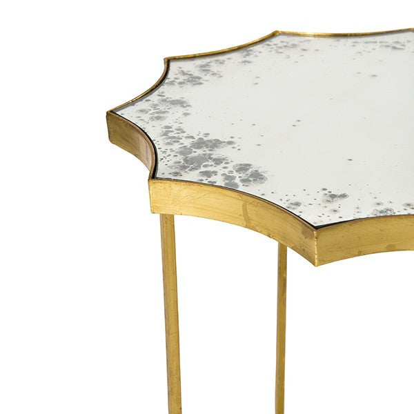 Astre Two Tier Gold Side Table design by Aidan Gray