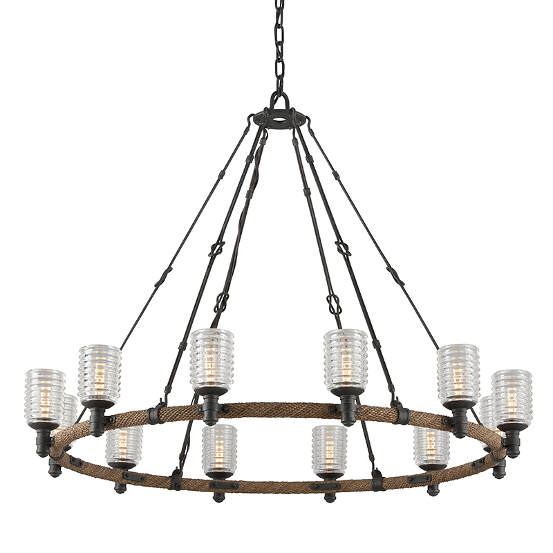 Embarcadero Chandelier Large by Troy Lighting