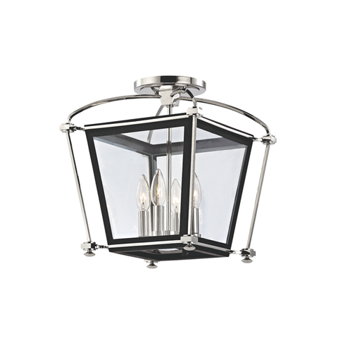 Hollis 4 Light Semi Flush by Hudson Valley Lighting