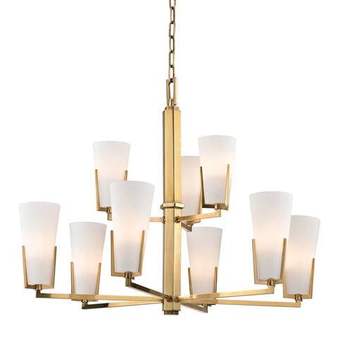 Upton 9 Light Chandelier by Hudson Valley Lighting