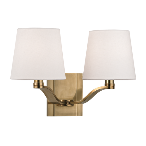 Clayton 2 Light Wall Sconce by Hudson Valley Lighting