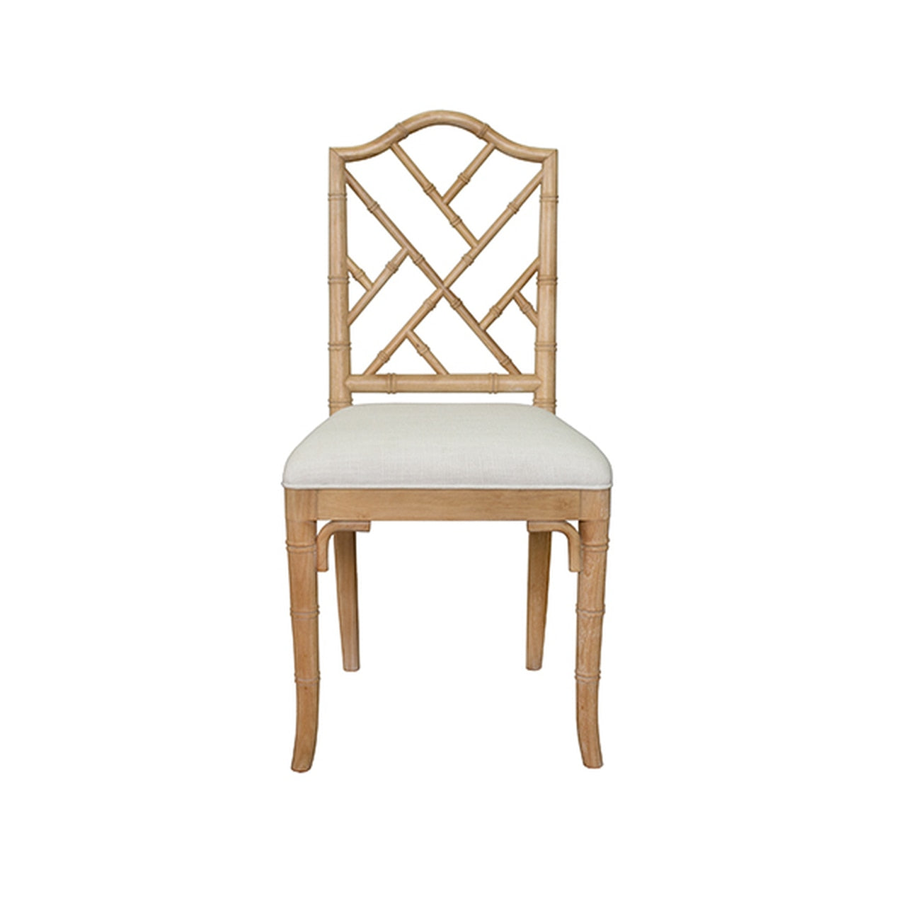 Chippendale Style Bamboo Dining Chair With Linen Cushion In Various Co Burke Decor