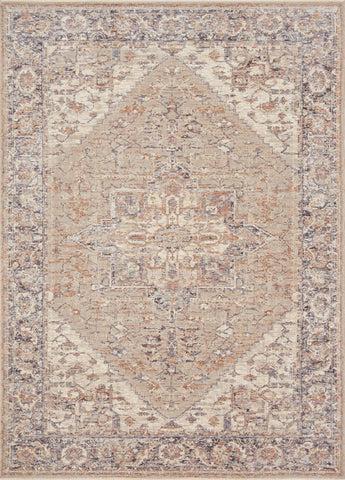 Faye Rug in Taupe / Denim by Loloi