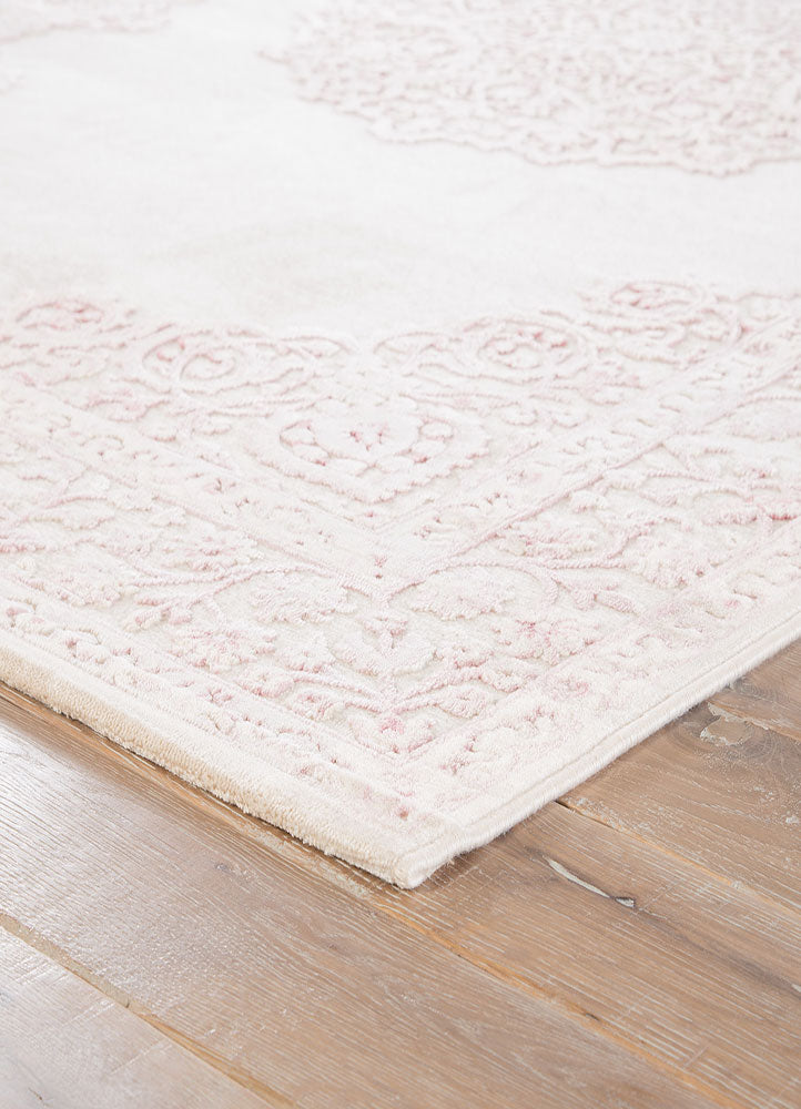 Fables Rug In Bright White Amp Parfait Pink Design By Jaipur