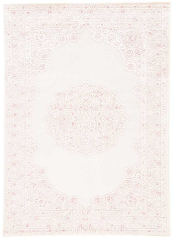 Fables Rug in Bright White & Parfait Pink design by Jaipur
