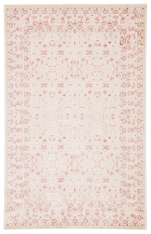 Regal Damask Rug in Angora & Pale Lilac design by Jaipur