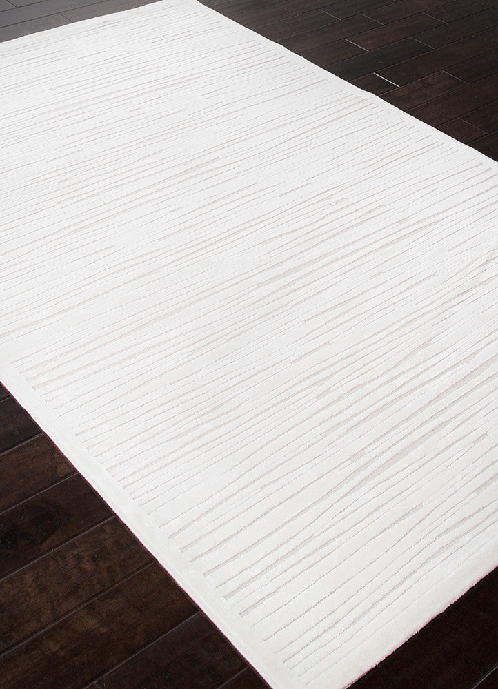 Linea Abstract White Area Rug