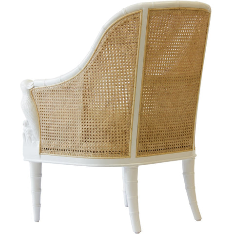 Cockatoo Chair in White & Natural design by Selamat