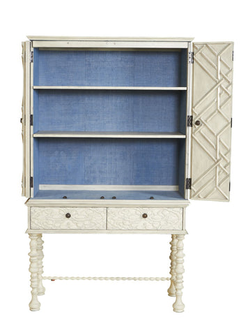 Mayfair Lattice Hutch in Vintage Grey design by Selamat