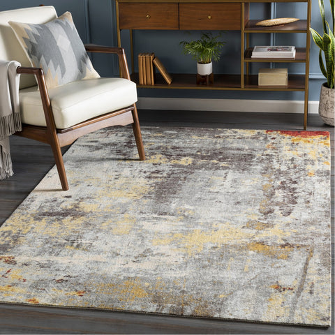 Felicity FCT-8008 Rug in Charcoal & Medium Grey by Surya