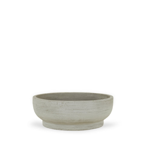 Fiber Cement Footed Bowl Planters by Hawkins New York