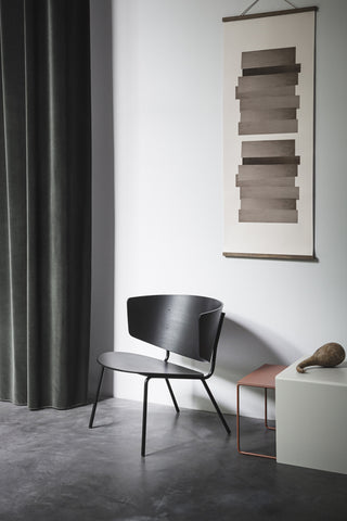 Herman Lounge Chair in Black by Ferm Living