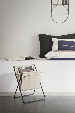 Herman Magazine Stand in Black design by Ferm Living
