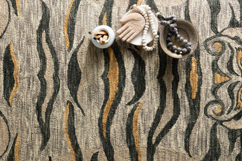 Feroz Rug in Silver by Justina Blakeney for Loloi