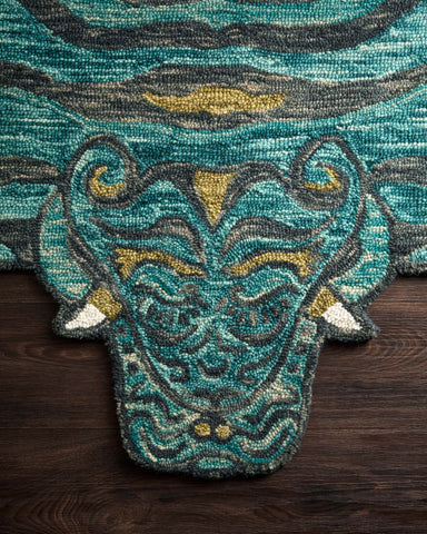 Feroz Rug in Teal by Justina Blakeney for Loloi