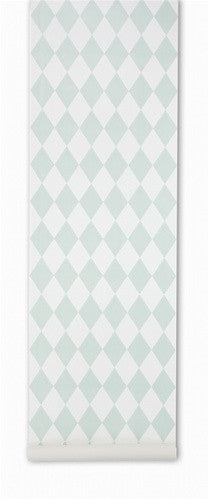 Harlequin Wallpaper in Mint by Ferm Living